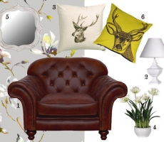 How to: Dress a Chesterfield Sofa for Spring