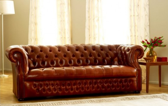Richmount Leather Chesterfield Sofa