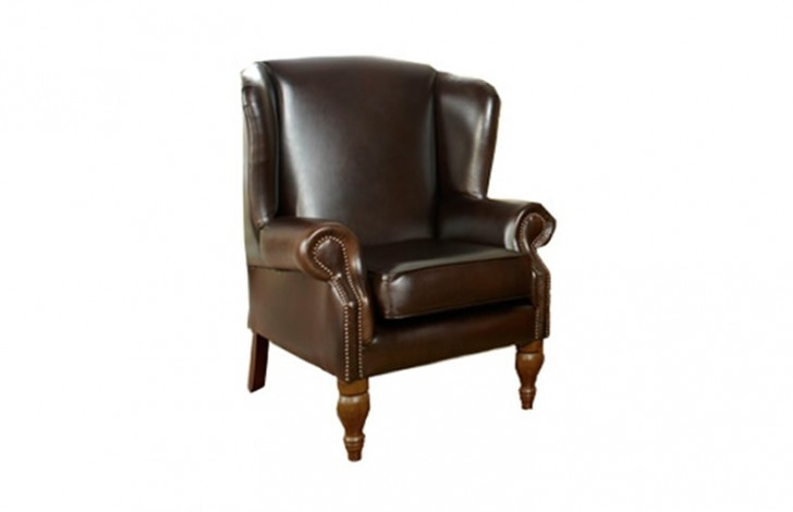 Douglas Leather Wing Chair