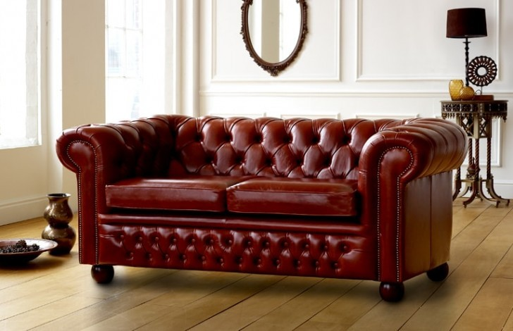 Gentil Claridge Luxury Leather Chesterfield Sofa
