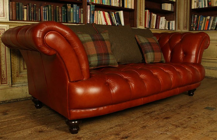 St Edmund Vintage Brown Leather Sofa