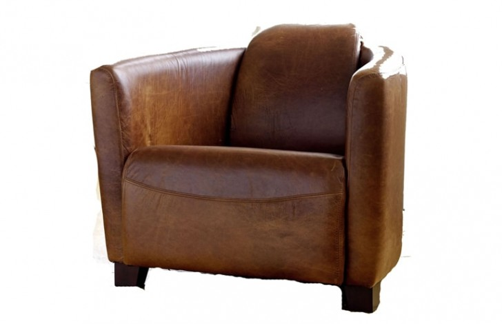 Delicieux Hudson Leather Tub Chair