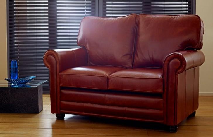 Lancaster English Leather Sofa