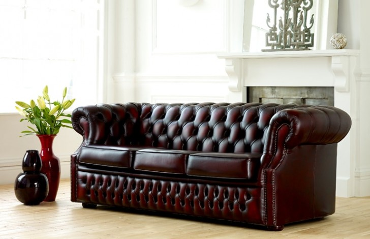 Richmond Leather Chesterfield Sofa Bed