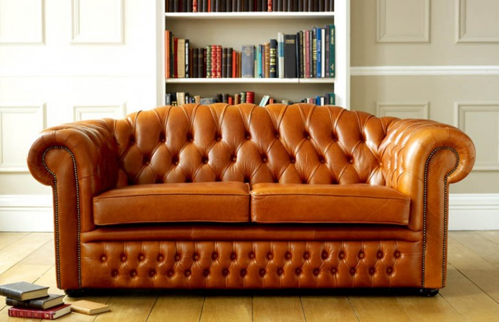 Oxley Clic Leather Chesterfield Sofa Bed