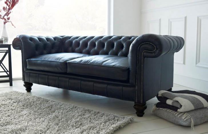 Paxton Black Leather Chesterfield | Chesterfield Company