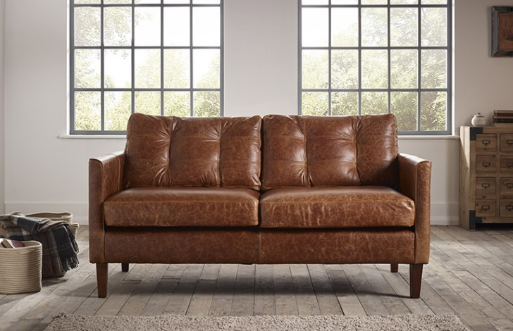 cromer small leather sofa BUZADMF9