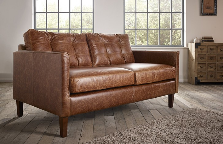 Attirant Cromer Small Leather Sofa