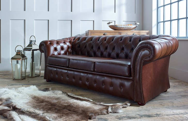 Traditional Leather Sofa Becky Traditional Sofa In Leather