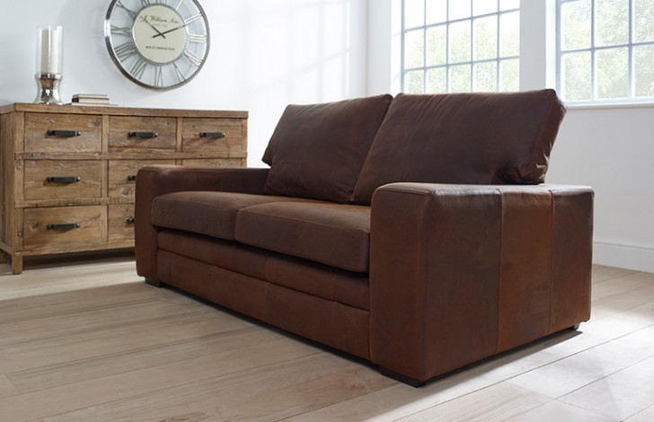 windsor suede leather sofa