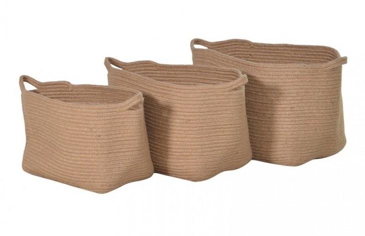 Set Of Three Rope Baskets