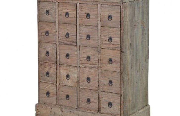 Colonial Reclaimed Pine 20 Drawer Chest