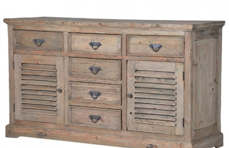 Colonial Reclaimed Pine Louvred Sideboard