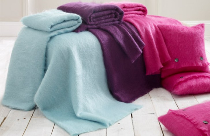 Mohair Throw Hazel Green