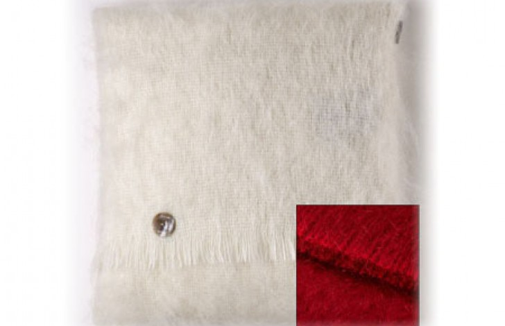 Mohair Cushion Lacquer Red