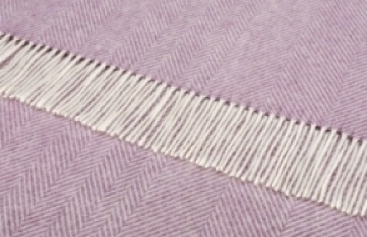Herringbone Throw Lilac