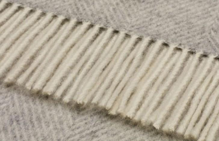 Herringbone Throw Grey