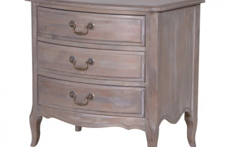 Belfort 3 Drawer Bedside
