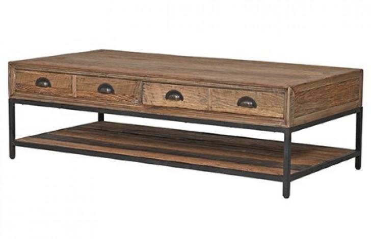 Rustic Pine 2 Drawer Coffee Table
