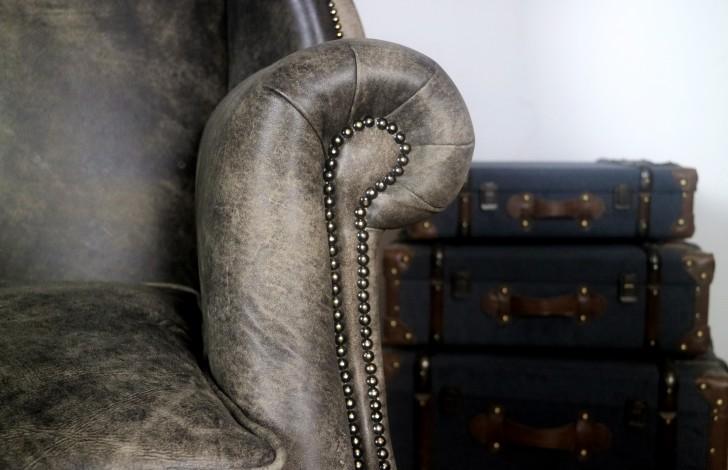 Didsbury Vintage Leather Fireside Armchair