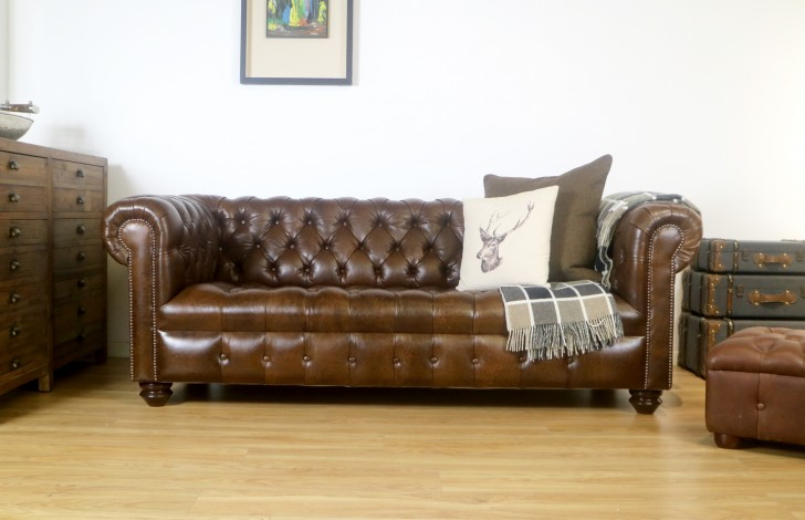 Woodford Vintage Leather Chesterfield
