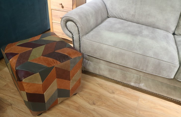 Patchwork Cube Stool