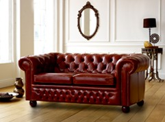 Claridge Leather Chesterfield Sofa