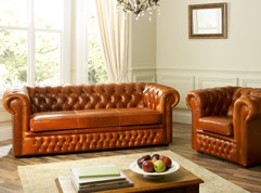Heaton Leather Chesterfield