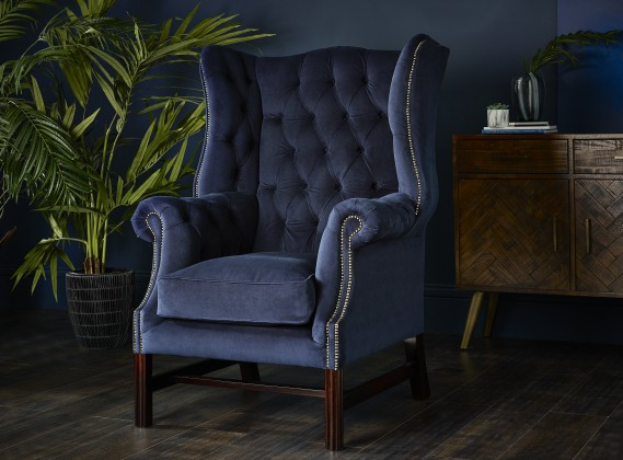 Manchester Vintage Fabric Fireside Armchair