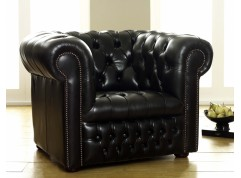 Ludlow Black Chesterfield Armchair