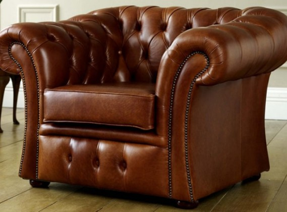 Gladbury Traditional Leather Chair
