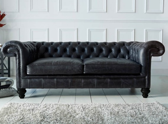 Black Leather Chesterfield | Paxton