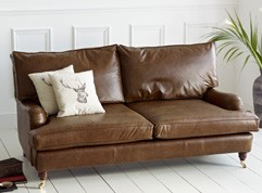 Downton Vintage Leather Sofa