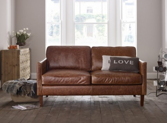 Cromer Small Leather Sofa