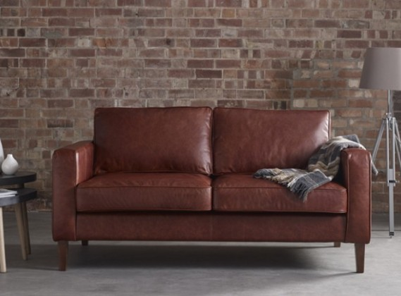 Melrose Buttoned Back Leather Sofa