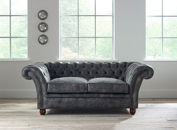Gray Leather Chesterfield Sofa Chesterfield Balm 3 Seater