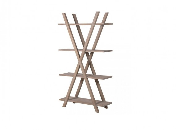 X-Frame Shelf Unit, Oak