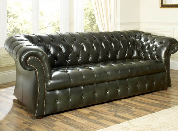 Coniston Elegant Leather Chesterfield