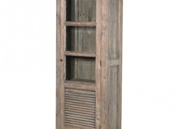 Colonial Reclaimed Pine Glazed Bookcase