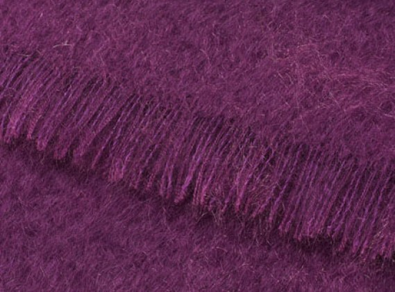 Mohair Throw Clover