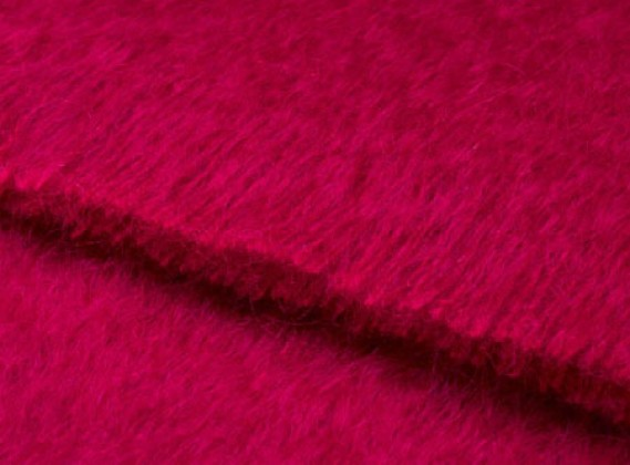 Mohair Throw Fuchsia