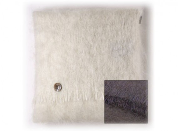 Mohair Cushion Chocolate