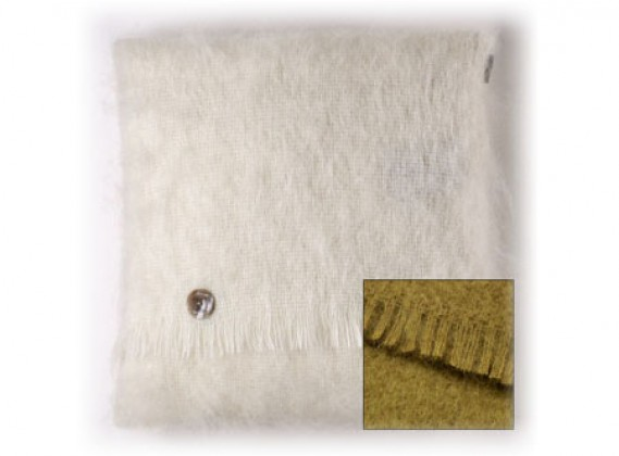 Mohair Cushion Hazel Green