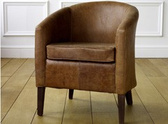 EST Leather Tub Chair