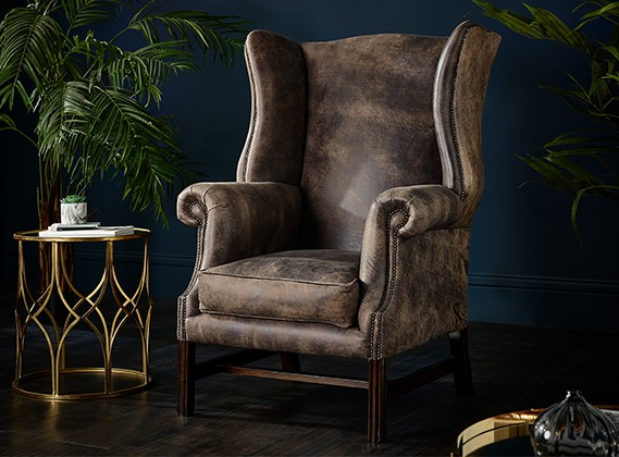 Didsbury Vintage Leather Fireside Armchair
