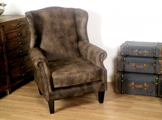Chorlton Wingback Chesterfield Leather Armchair