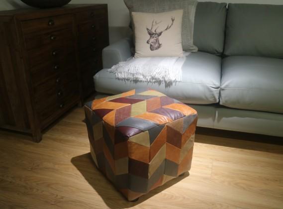 Patchwork Cube Stool