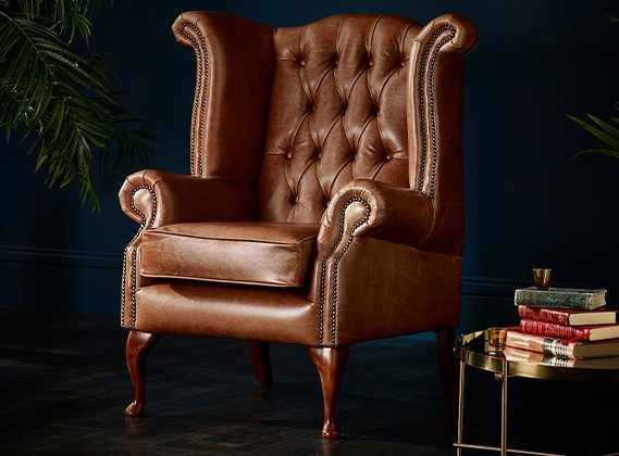 Brown Tan Leather Chairs Armchairs