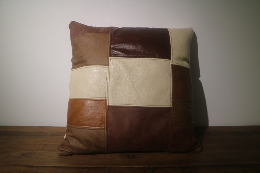 Patchwork Scatter Cushion - Patchwork Scatter Cushion - Patchwork Leather