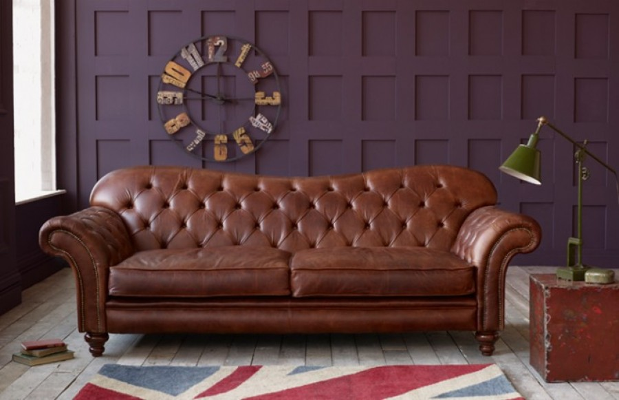Arundel Vintage Leather Sofa - 3 Seater - Lacotte